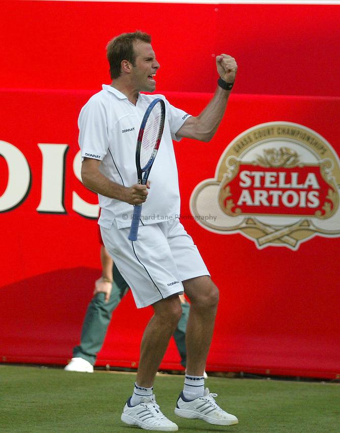Photograph: Scott Heavey..Day 1 of the Stella Artois Championship at the Queens Club. 09/06/2003..Greg Rusedski