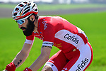 Geoffrey Soupe (FRA) Cofidis part of the breakaway group  during the 116th edition of Paris-Roubaix 2018. 8th April 2018.<br /> Picture: ASO/Pauline Ballet | Cyclefile<br /> <br /> <br /> All photos usage must carry mandatory copyright credit (&copy; Cyclefile | ASO/Pauline Ballet)