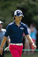Gainesville, VA - August 2, 2015:   Ryo Ishikawa walks down hole 8  at the Robert Trent Jones Golf Club in Gainesville, VA. August 2, 2015.  (Photo by Elliott Brown/Media Images International)
