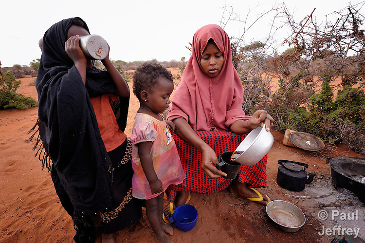 Sagul Mohammed Omar, 24, just arrived with her five children in the Dadaab refugee camp in northeastern Kenya. Tens of thousands of refugees have fled drought-stricken Somalia in recent weeks, swelling what was already the world's largest refugee settlement.