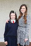 Eva Finnegan and Sponsor Hannah Gilmore.Donacarney Confirmation 2013.Picture: Fran Caffrey www.newsfile.ie.