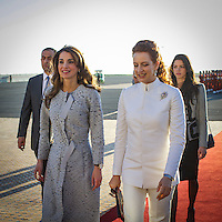 King Abdullah II and Queen Rania of Jordan visit Morocco