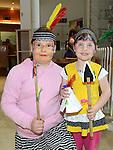 Sindiva and Simona Gaijute enjoying the 'American Day' at Scotch Hall shopping centre. Photo:Colin Bell/pressphotos.ie
