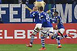 06.02.2019, Veltins-Arena, Gelsenkirchen, GER, DFB-Pokal Achtelfinale, Schalke 04 vs Fortuna Duesseldorf, DFL regulations prohibit any use of photographs as image sequences and/or quasi-video<br /> <br /> im Bild Ahmed Kutucu (#15, FC Schalke 04) jubelt nach seinem Tor zum 1:0 mit Bastian Oczipka (#24, FC Schalke 04) Rabbi Matondo (#14, FC Schalke 04) <br /> <br /> Foto © nph/Mauelshagen