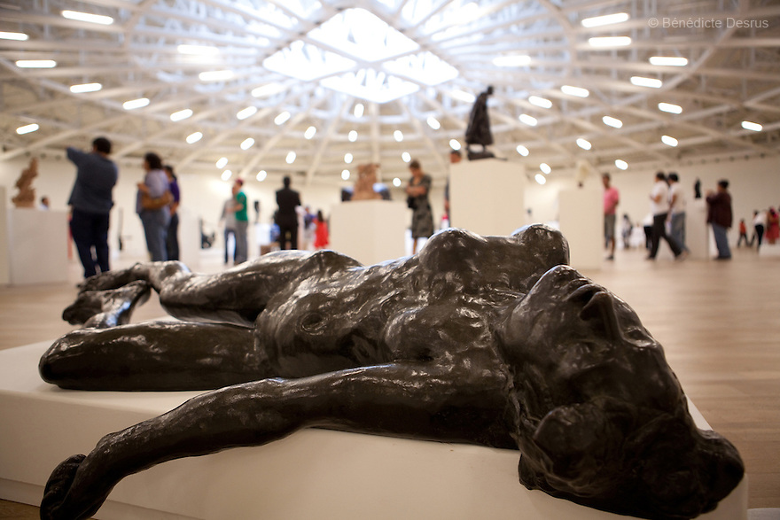 May 14, 2011 - Mexico City, Mexico - French sculptor Auguste Rodin's sculpture, The Martyr. Mexican billionaire Carlos Slim newly built museum Soumaya that houses his art collection which includes the second largest grouping of Rodin sculptures. It also holds many of the best known European artists from the 15th to the 20th Century, Mexican art, religious relics, historical documents and coins. Designed by Slim's 38-year old son-in-law, Fernando Romero, the six-floor, 183,000 square-foot Soumaya Museum is shaped like a wonky futuristic hourglass layered with 16 000 aluminum hexagons. The $34 million museum is part of an enormous complex including headquarters for the magnate's telecom corporations Grupo Carso and Telcel, a shopping mall and luxury apartment housing. The Museum opened to public in march 2011 and it is located in Polanco Plaza Carso of Mexico City. Photo crédito: Benedicte Desrus