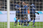 Andrea Ranocchia of Inter celebrates with team mates after scoring to give the side a 4-1 lead during the Coppa Italia match at Giuseppe Meazza, Milan. Picture date: 14th January 2020. Picture credit should read: Jonathan Moscrop/Sportimage