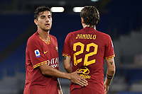 Lorenzo Pellegrini of AS Roma , Nicolo Zaniolo of AS Roma <br /> Roma 15/09/2019 Stadio Olimpico <br /> Football Serie A 2019/2020 <br /> AS Roma - US Sassuolo <br /> Photo Andrea Staccioli / Insidefoto
