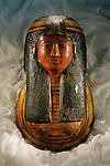 Mummy mask of Sennedjem's wife, New Kingdom.