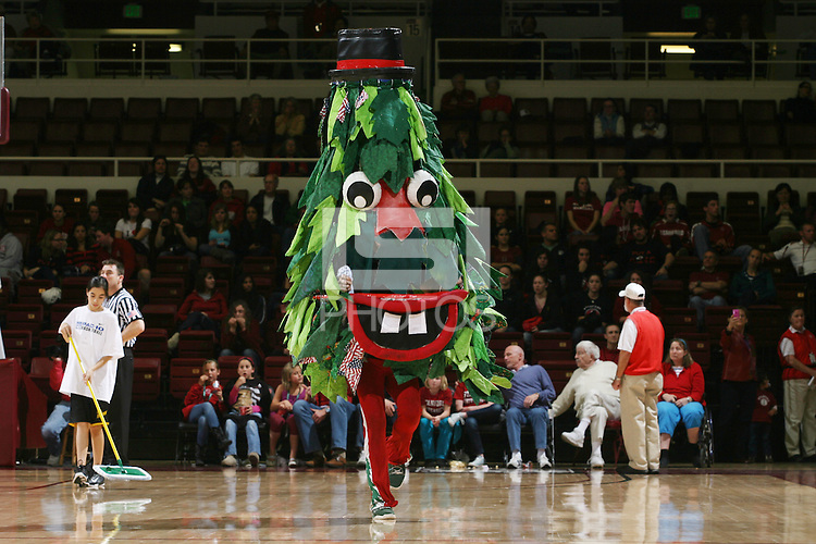 STANFORD, CA - JANUARY 14:  The Stanford Tree mascot during Stanford's 80-43 win over the Washington State Cougars on January 14, 2009 at Maples Pavilion in Stanford, California.