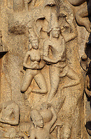 Indien, Mahabalipuram (Tamil Nadu), Arjuna's Penance Unesco-Weltkulturerbe