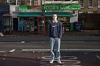 Street portraits of  Mitchell Bradshaw around Kennington Road and Elephant and Castle.  London UK