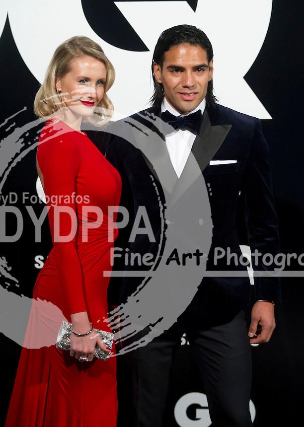 19/11/2012. Palace Hotel. Madrid. Spain. GQ Men Of The Year Award 2012. Radamel Falcao and Lorelei Taron. (C) Belen Diaz / DyD Fotografos