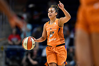 Washington, DC - July 30, 2019: Phoenix Mercury guard Leilani Mitchell (5) directs the offense during first half action of game between the Phoenix Mercury and Washington Mystics at the Entertainment & Sports Arena in Washington, DC. (Photo by Phil Peters/Media Images International)