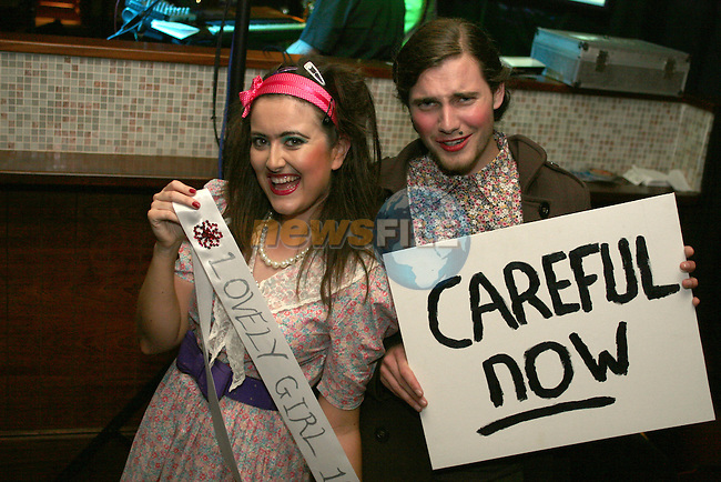 Judith Byrne and Barry Donoghue at the Father Ted Night in McHughs in aid of Drogheda Animal Rescue...Photo NEWSFILE/Jenny Matthews.(Photo credit should read Jenny Matthews/NEWSFILE)....This Picture has been sent you under the condtions enclosed by:.Newsfile Ltd..The Studio,.Millmount Abbey,.Drogheda,.Co Meath..Ireland..Tel: +353(0)41-9871240.Fax: +353(0)41-9871260.GSM: +353(0)86-2500958.email: pictures@newsfile.ie.www.newsfile.ie.FTP: 193.120.102.198.
