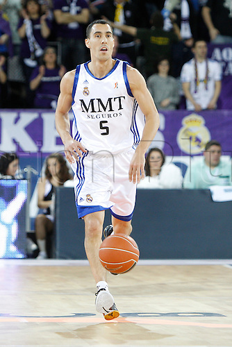 22.01.2011 Real Madrid v Asefa Estudiantes, Liga ACB, Game 18. Picture shows Pablo Prigioni. ......