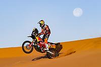 12th January 2020, Riyadh, Saudi Arabia;  16 Benavides Luciano (arg), KTM, Red Bull KTM Factory Team, Moto, Bike, Motul, action during Stage 7 of the Dakar 2020 between Riyadh and Wadi Al-Dawasir, 741 km - SS 546 km, in Saudi Arabia   - Editorial Use