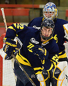 Brendan Ellis (Merrimack - 22), Joe Cannata (Merrimack - 35) - The visiting Merrimack College Warriors defeated the Harvard University Crimson 3-1 (EN) at Bright Hockey Center on Tuesday, November 30, 2010.