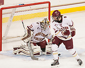 Katie Burt (BC - 33), Caitrin Lonergan (BC - 11) - The Boston College Eagles defeated the visiting Boston University Terriers 5-3 (EN) on Friday, November 4, 2016, at Kelley Rink in Conte Forum in Chestnut Hill, Massachusetts.The Boston College Eagles defeated the visiting Boston University Terriers 5-3 (EN) on Friday, November 4, 2016, at Kelley Rink in Conte Forum in Chestnut Hill, Massachusetts.