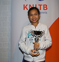 November 30, 2014, Almere, Tennis, Winter Youth Circuit, WJC,  Prizegiving,  Gigi Sy-A-Foek<br /> Photo: Henk Koster