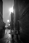 Whitechapel, London. 1976<br /> Brick Lane at the junction with Sheba Street.