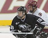 Anthony Aiello, Colin McDonaldThe Boston College Eagles defeated the Providence College Friars 3-2 in regulation on October 29, 2005 at Kelley Rink in Conte Forum in Chestnut Hill, MA.  It was BC's first Hockey East win of the season and Providence's first HE loss.