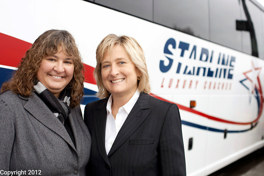 Gladys Gillis and Becky, Co-owners of Starline Luxury Coaches.