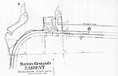 Map of D&amp;RGW Sargent station and vicinity.<br /> D&amp;RGW  Sargent, CO