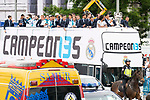 Real Madrid during the celebration of the Thirteen Champions League at Cibeles Fountain in Madrid, Spain. May 27, 2018. (ALTERPHOTOS/Borja B.Hojas)