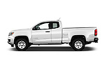 Car Driver side profile view of a 2016 Chevrolet Colorado 2WD wt Extended Cab 3 Door Pick-up Side View
