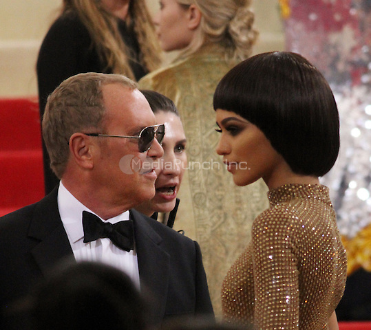 05 02 2016: Michael Kors, Zendaya at Manus X Machina: Fashion In An Age of Technology at Metropolitan Museum of Art in New York. Credit:RWMediaPunch