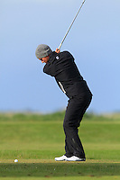 Robbie Van West (Netherlands) on the 12th tee during Round 3 of The Irish Amateur Open Championship in The Royal Dublin Golf Club on Saturday 10th May 2014.<br /> Picture:  Thos Caffrey / www.golffile.ie