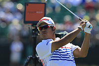 Hideki Matsuyama (JPN) tees off the 17th tee during Thursday's Round 1 of the 118th U.S. Open Championship 2018, held at Shinnecock Hills Club, Southampton, New Jersey, USA. 14th June 2018.<br /> Picture: Eoin Clarke | Golffile<br /> <br /> <br /> All photos usage must carry mandatory copyright credit (&copy; Golffile | Eoin Clarke)