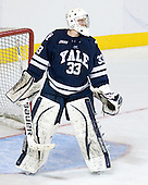 Jeff Malcolm took the third shift in Yale's crease. - The Boston College Eagles defeated the Yale University Bulldogs 9-7 in the Northeast Regional final on Sunday, March 28, 2010, at the DCU Center in Worcester, Massachusetts.
