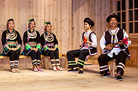 Zhaoxing, Guizhou, China.  Traditional Musical Performance by Members of Dong Ethnic Minority.