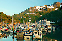 The small boat harbor Whittier, Alaska