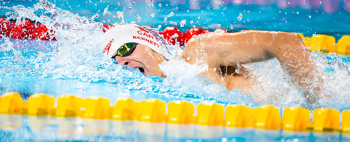 Lima, Peru -  26/August/2019 - Nicholas Bennett competes in the men's 200m freestyle S14 at the Parapan Am Games in Lima, Peru. Photo: Dave Holland/Canadian Paralympic Committee.