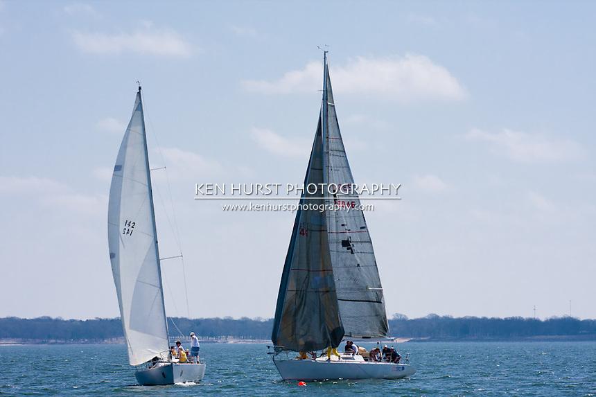 Texoma Sailing Club Icebreaker 3, third sailing race of 2011.