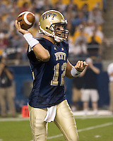 22 September 2007: Pitt quarterback Kevan Smith..The Connecticut Huskies defeated the Pitt Panthers 34-14 on September 22, 2007 at Heinz Field in Pittsburgh, Pennsylvania.