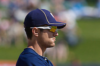 March 13, 2010: Milwaukee Brewers third baseman Adam Heether (#61) during a spring training game against the Colorado Rockies at Maryvale Baseball Park in Maryvale, Arizona.