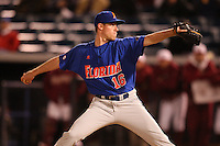 March 2, 2010:  Pitcher Anthony DeSclafani (16) of the Florida Gators during a game at Legends Field in Tampa, FL.  Photo By Mike Janes/Four Seam Images