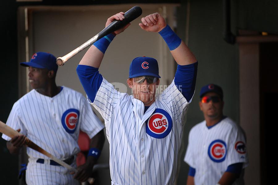 Mar 23, 2007; Mesa, AZ, USA; Chicago Cubs outfielder (19) Matt Murton against the San Francisco Giants at Hohokam Park in Mesa, AZ. Mandatory Credit: Mark J. Rebilas