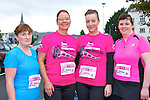 Leonie Hussey-O'Brien Killarney, Alex Buhl Tralee, Adele Coffey Beaufort and Linda Costello Killorglin  running at the Killarney Ladies mini marathon on Saturday