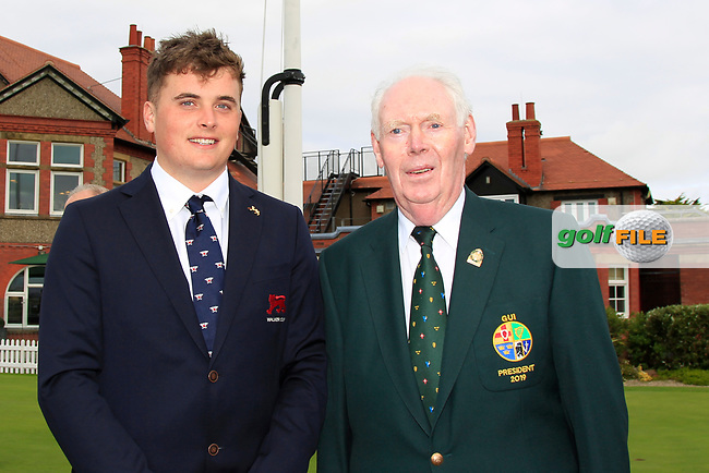 James Sugrue (GB&I) and Jim McGovern (President GUI) during the Official Opening of the Walker Cup, Royal Liverpool Golf CLub, Hoylake, Cheshire, England. 06/09/2019.<br /> Picture Thos Caffrey / Golffile.ie<br /> <br /> All photo usage must carry mandatory copyright credit (© Golffile   Thos Caffrey)