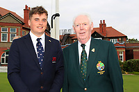 James Sugrue (GB&I) and Jim McGovern (President GUI) during the Official Opening of the Walker Cup, Royal Liverpool Golf CLub, Hoylake, Cheshire, England. 06/09/2019.<br /> Picture Thos Caffrey / Golffile.ie<br /> <br /> All photo usage must carry mandatory copyright credit (© Golffile | Thos Caffrey)