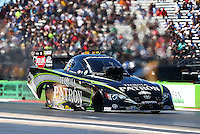 Sept. 21, 2013; Ennis, TX, USA: NHRA funny car driver Alexis DeJoria during the Fall Nationals at the Texas Motorplex. Mandatory Credit: Mark J. Rebilas-
