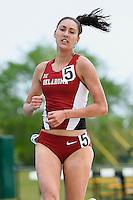 Chloe Peek of Oklahoma competes in 1500 Meter final during Baylor Invitational track meet, Friday, April 03, 2015 in Waco, Tex. (Mo Khursheed/TFV Media via AP Images)