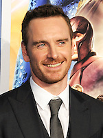 "NEW YORK CITY, NY, USA - MAY 10: Michael Fassbender at the World Premiere Of Twentieth Century Fox's ""X-Men: Days Of Future Past"" held at the Jacob Javits Center on May 10, 2014 in New York City, New York, United States. (Photo by Celebrity Monitor)"