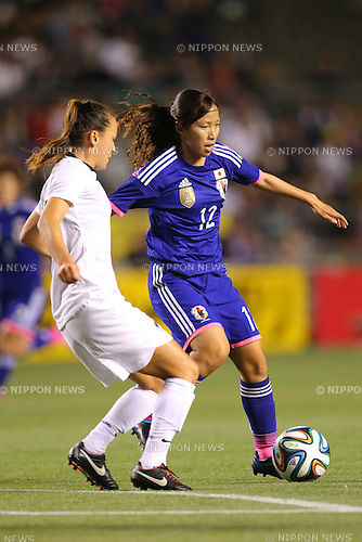 Emi Nakajima (JPN),  <br /> MAY 6, 2014 - Football /Soccer :  <br /> International friendly match<br /> between Japan 2-1 New Zealand <br /> at Kincho Stadium, Osaka, Japan. (Photo by Yohei Osada/AFLO SPORT)