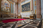 Basilica S. Maria degli Angeli and dei Martiri (the Basilica of St. Mary of the Angels and the Martyrs), one of the altars, Rome, Italy.