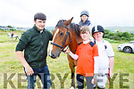 Kevin and Joshua Quilter, Jack O'Carroll and Julia Quilter from Duagh ready for jumping action at the Blennerville Pony & Agricultural Show on Sunday.
